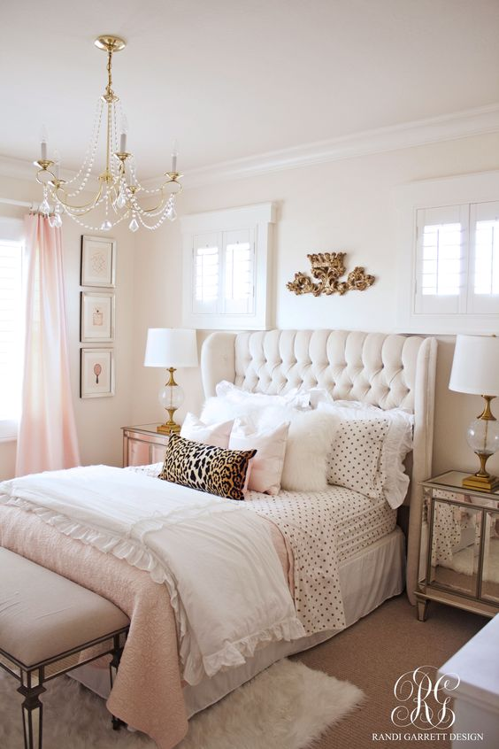 A Golden Touched Crown Above Bed