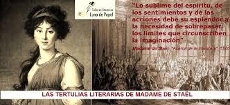 Las tertulias literarias de Madame de Staël. Tributos literarios y  encuentros de nuestro taller de escritura creativa en Valencia   Luna de  papel :: Talleres Literarios en Valencia