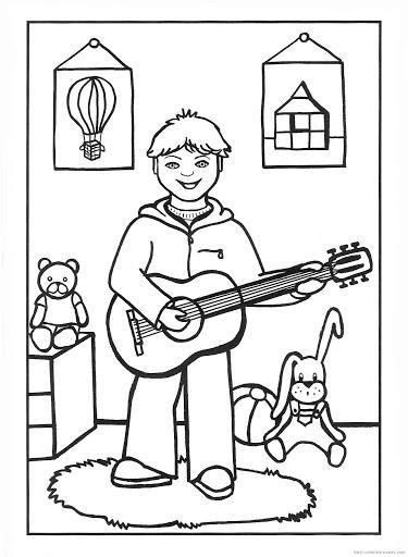 Instrumenty muzyczne - kolorowanki do druku - FD