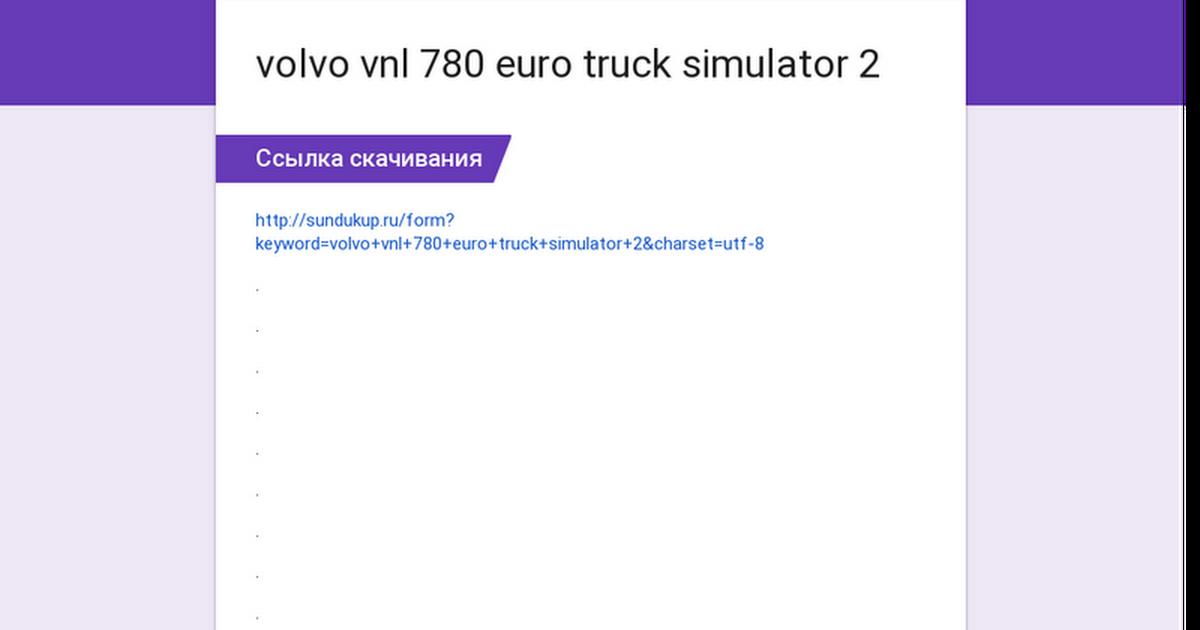 volvo vnl 780 euro truck simulator 2
