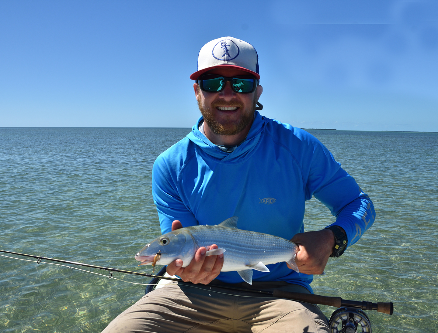 Image of man holding a Bonefish in Key West