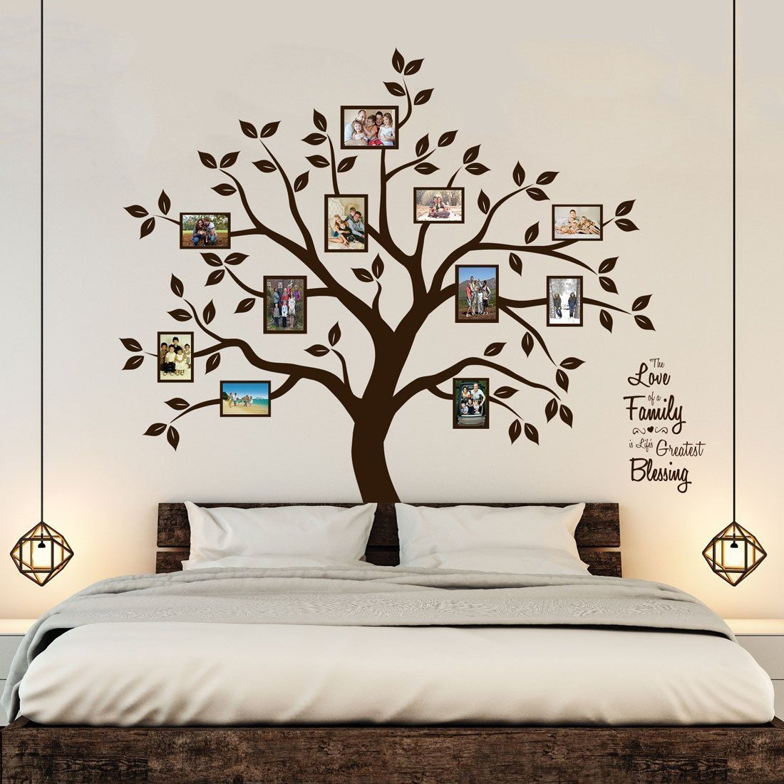 Paint a Family Photo Tree On the Wall for Boys Bedroom Painting Ideas