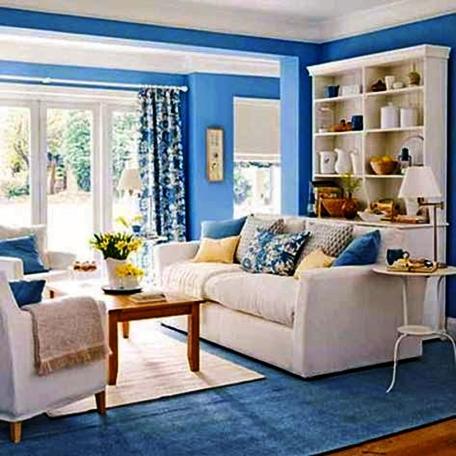 kombinasi warna cat ruang tamu kecil