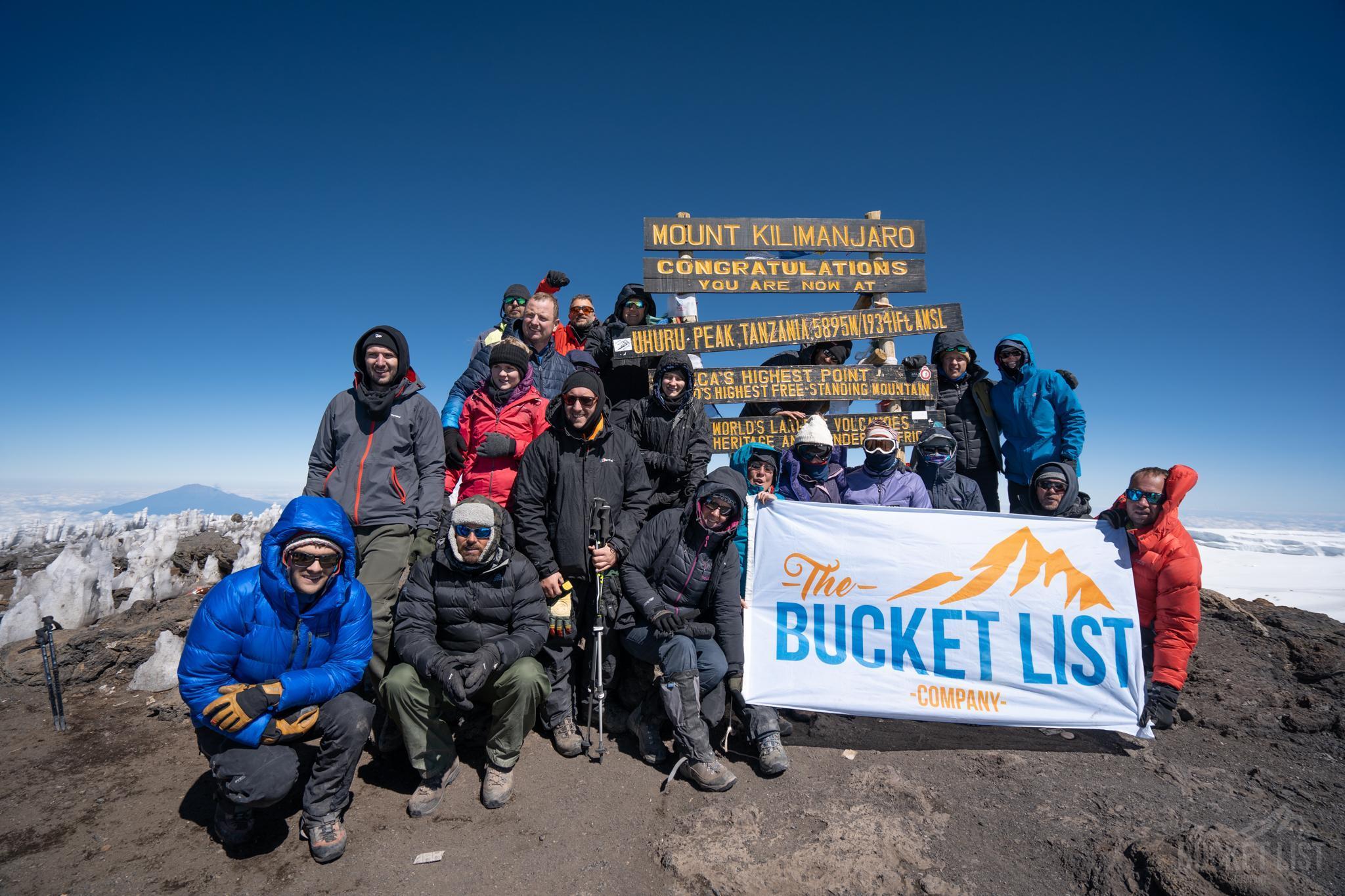 Trekker at the Kilimanjaro summit