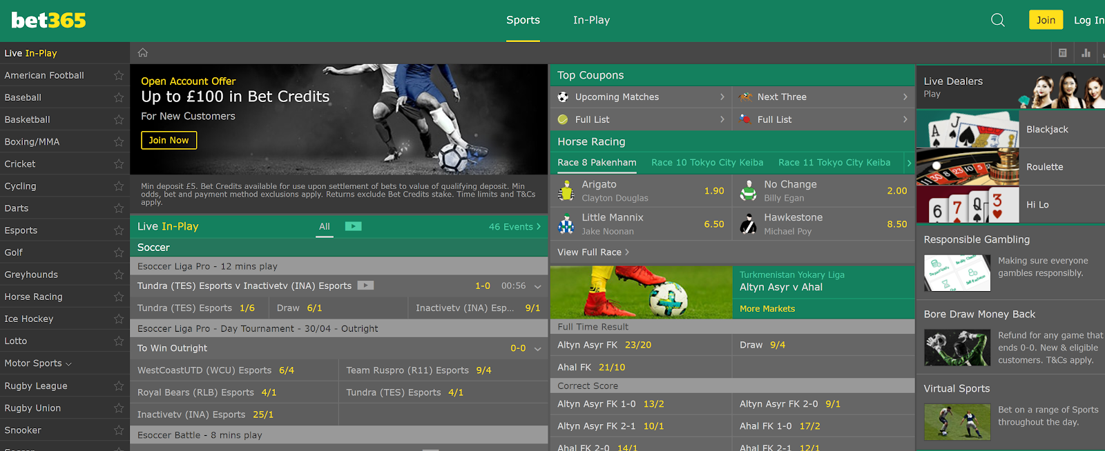 Bet365 has one of the best betting apps