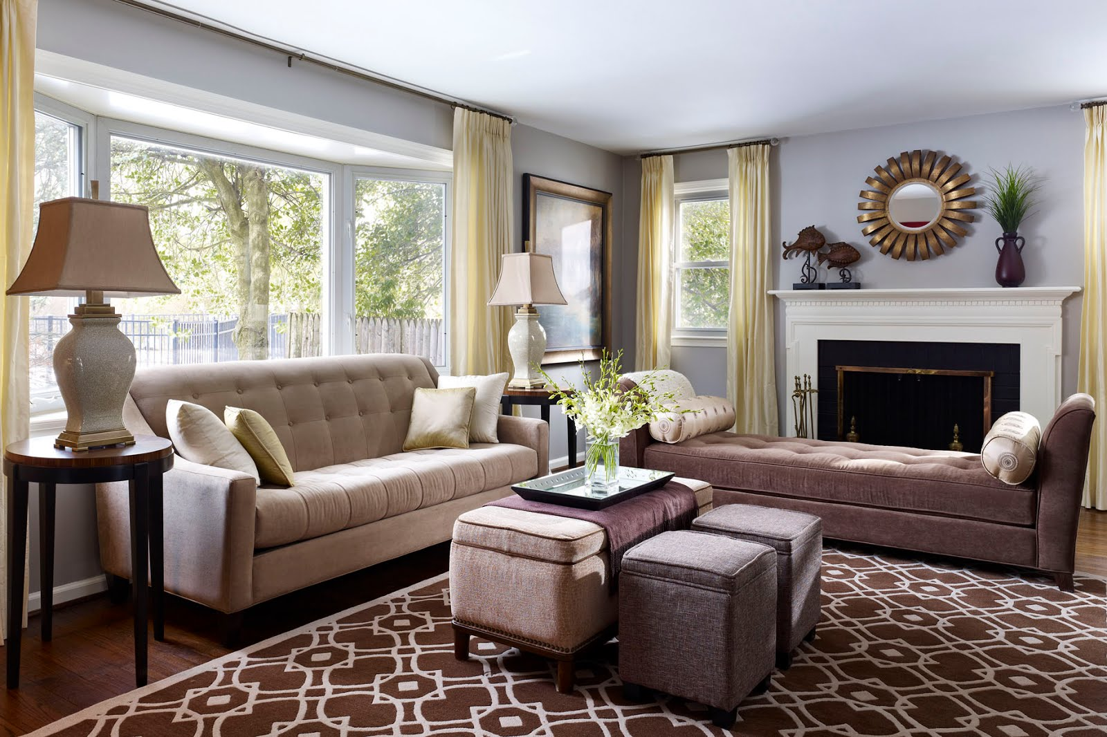 How To Decorate A Transitional Living Room
