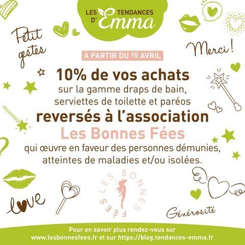 Les Tendances d'Emma s'engagent auprès de l'Association Les Bonnes Fées !