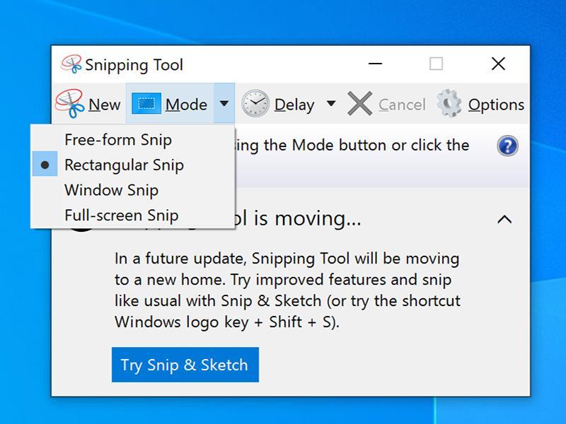 Cách chụp màn hình máy tính  Surface bằng cách sử dụng Windows Snipping Tool