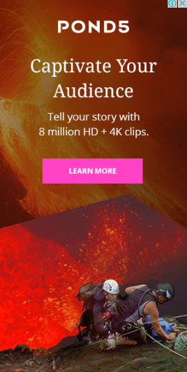 An example of a Pond5 remarketing display ad