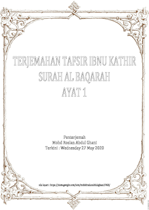 2 1 Arberry Alif Lam Mim Mohd Roslan Bin Abdul Ghani