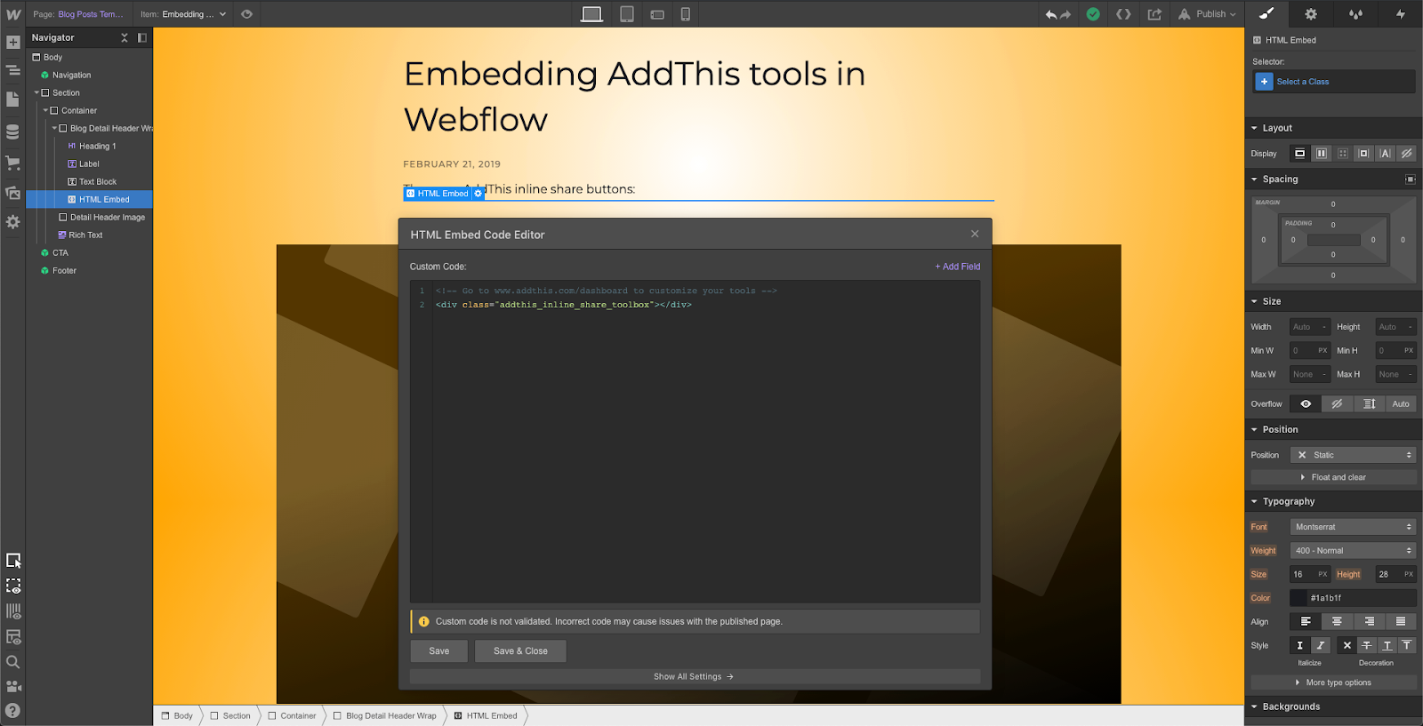 Image 7: Embed an inline tool on your page