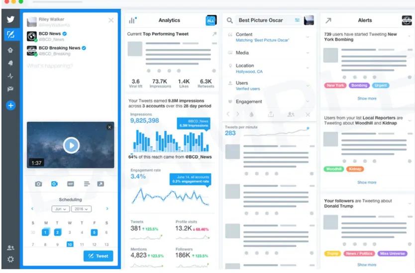 tweetdeck - auto retweet tools - TweetJumbo.com- twitter automation bot tool