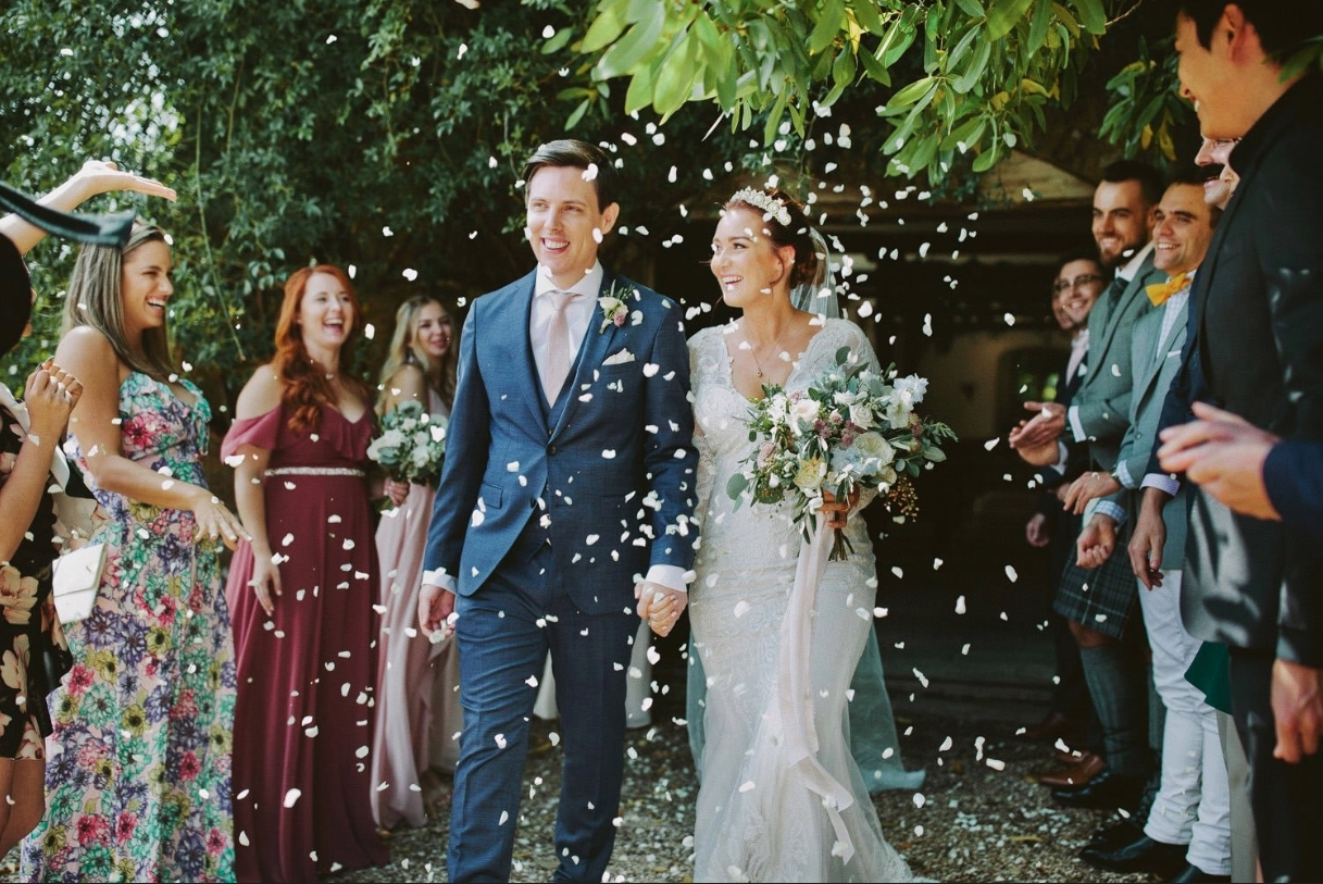 Sacriel and ShannonZKiller walking after their wedding.
