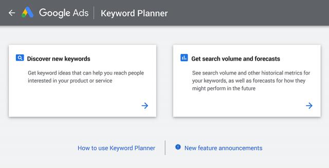 google keyword planner free