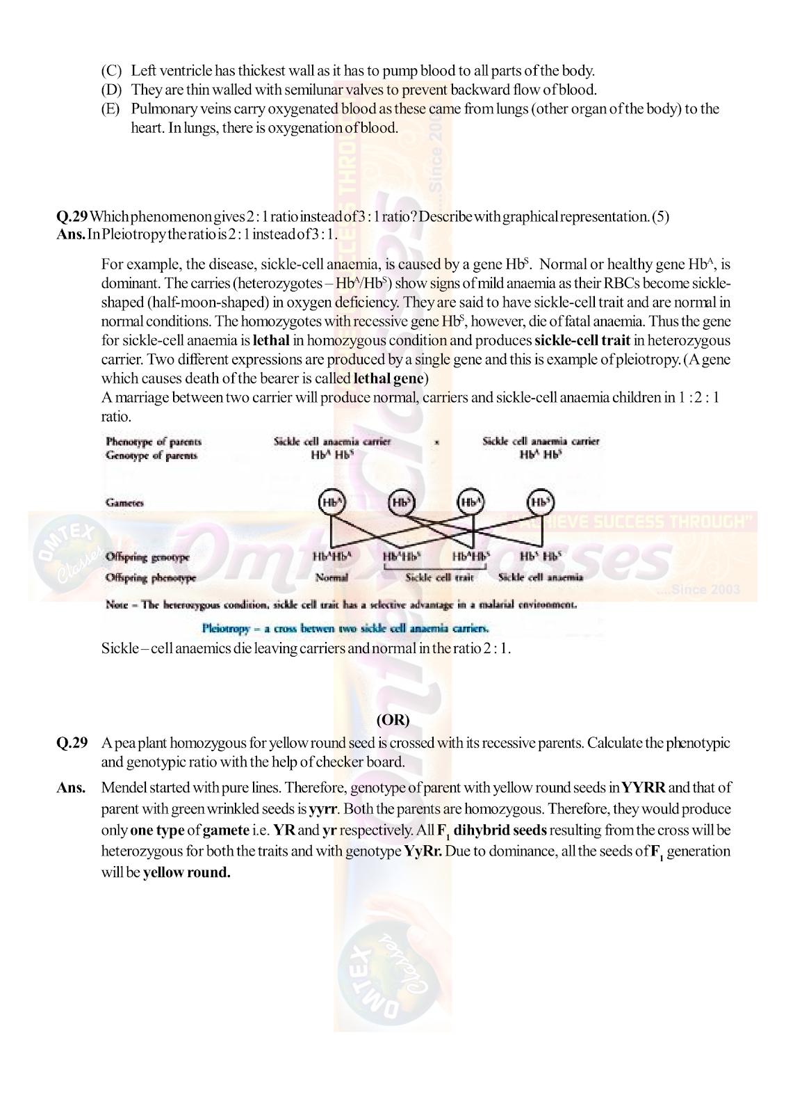 OMTEX CLASSES MAHARASHTRA : XII HSC - BOARD - MARCH - 2019