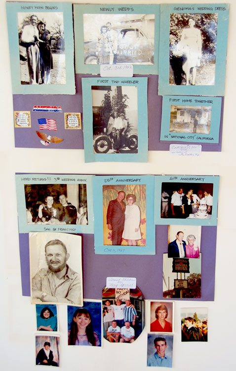 Photos from a display prepared for Neal and Genoma's 70th anniversary