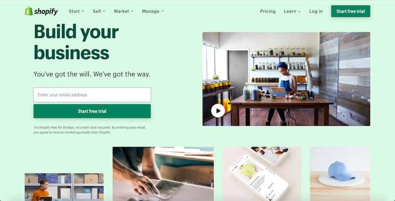 Imagem da capa da avaliação do Shopify