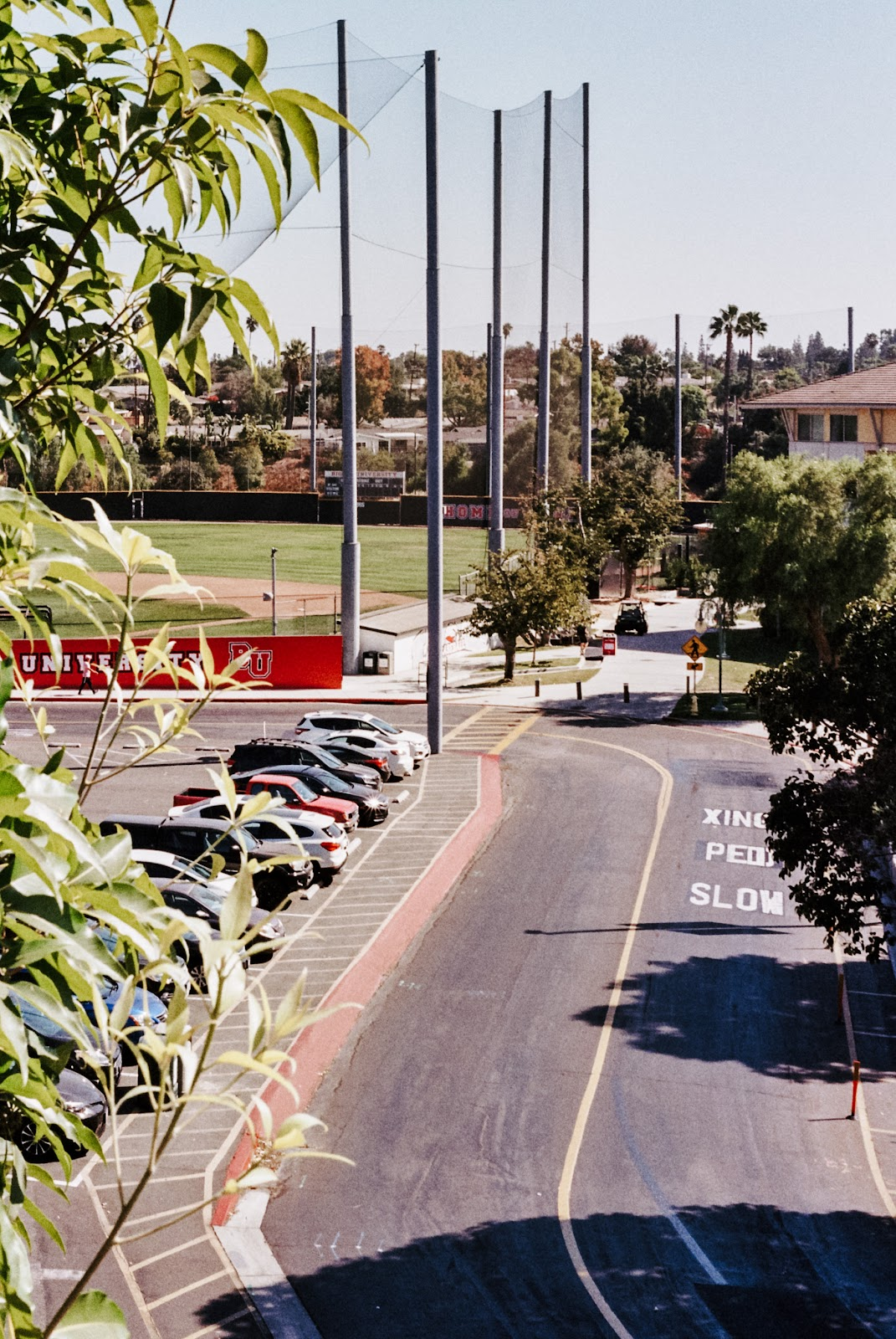 looking over the baseball fields on Biola's campus