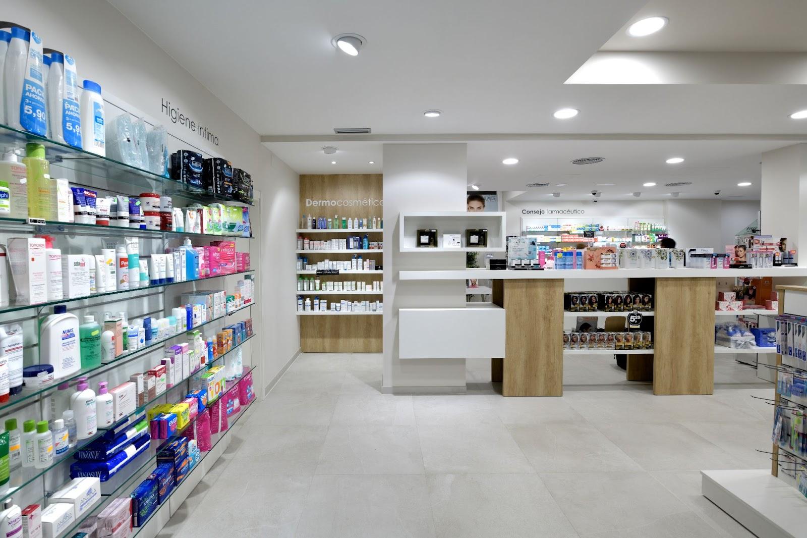 estilo minimalista en Farmacia