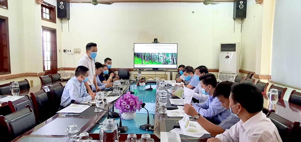 Tài trợ lập quy hoạch khu dự án khu đô thị buôn hồ của MCC Group