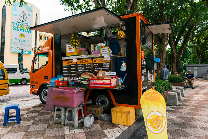 Burger truck at National Mosque.