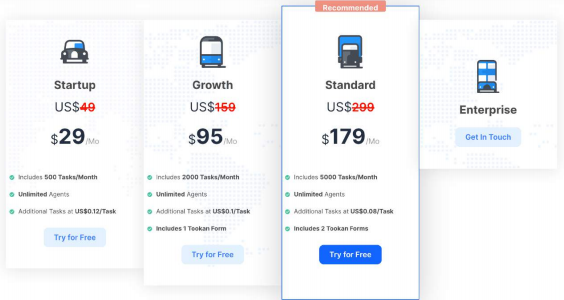cost of delivery management software | Tookan
