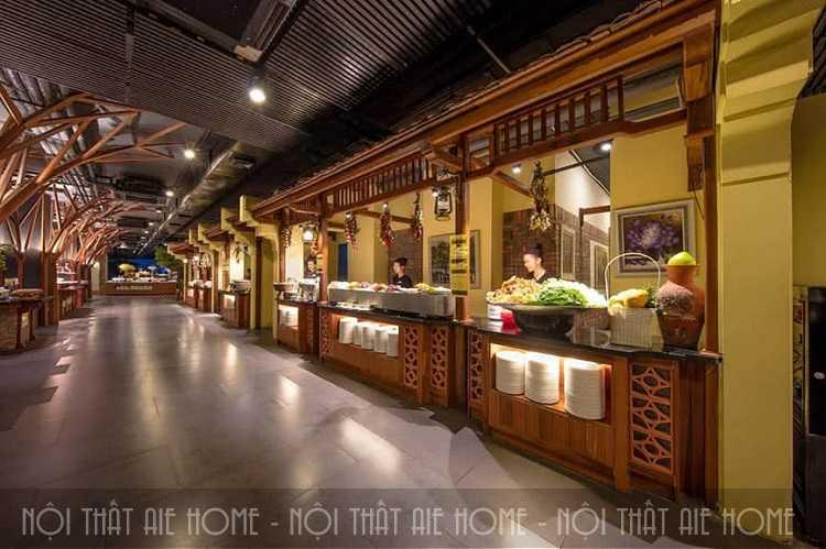 Thiết kế nội thất nhà hàng sen Tây Hồ