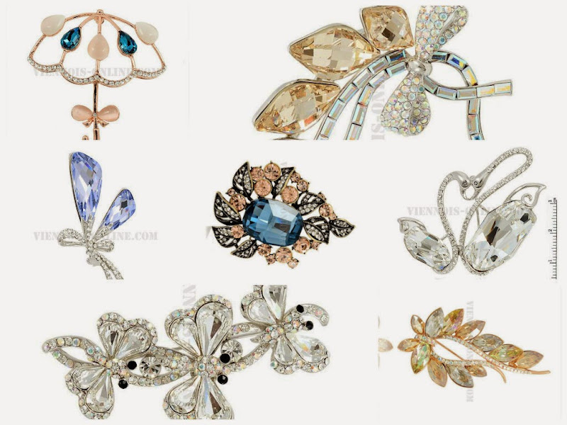 fashion brooches with novel designs