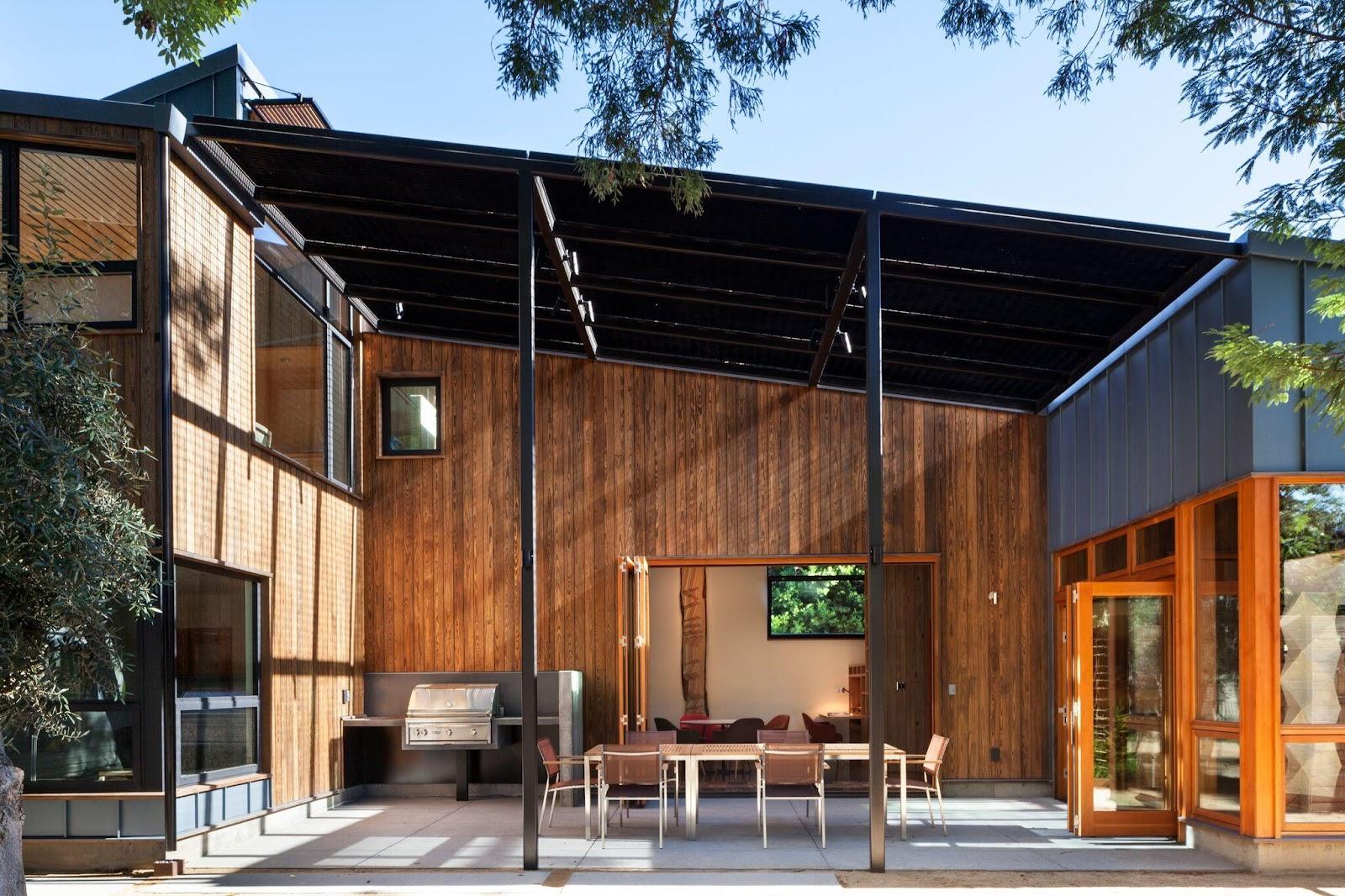 Holzverkleidung für ein energieeffizientes Haus