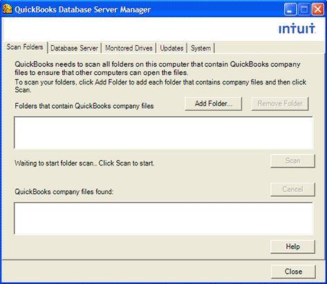 Quicbooks Database Server Manager
