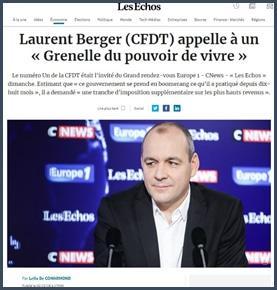 Laurent Berger appelle à un Grenelle du pouvoir de vivre