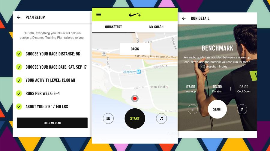 приложение для бега