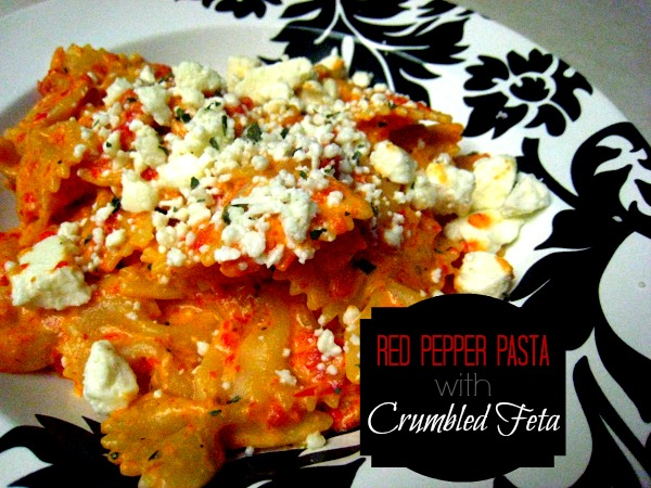 Red Pepper Pasta with Crumbled Feta -The Paper Mug.jpg