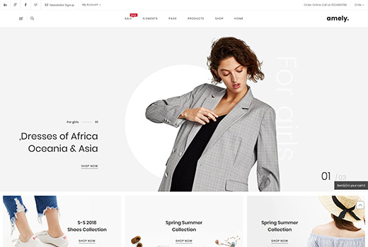 Material design magento theme Amely