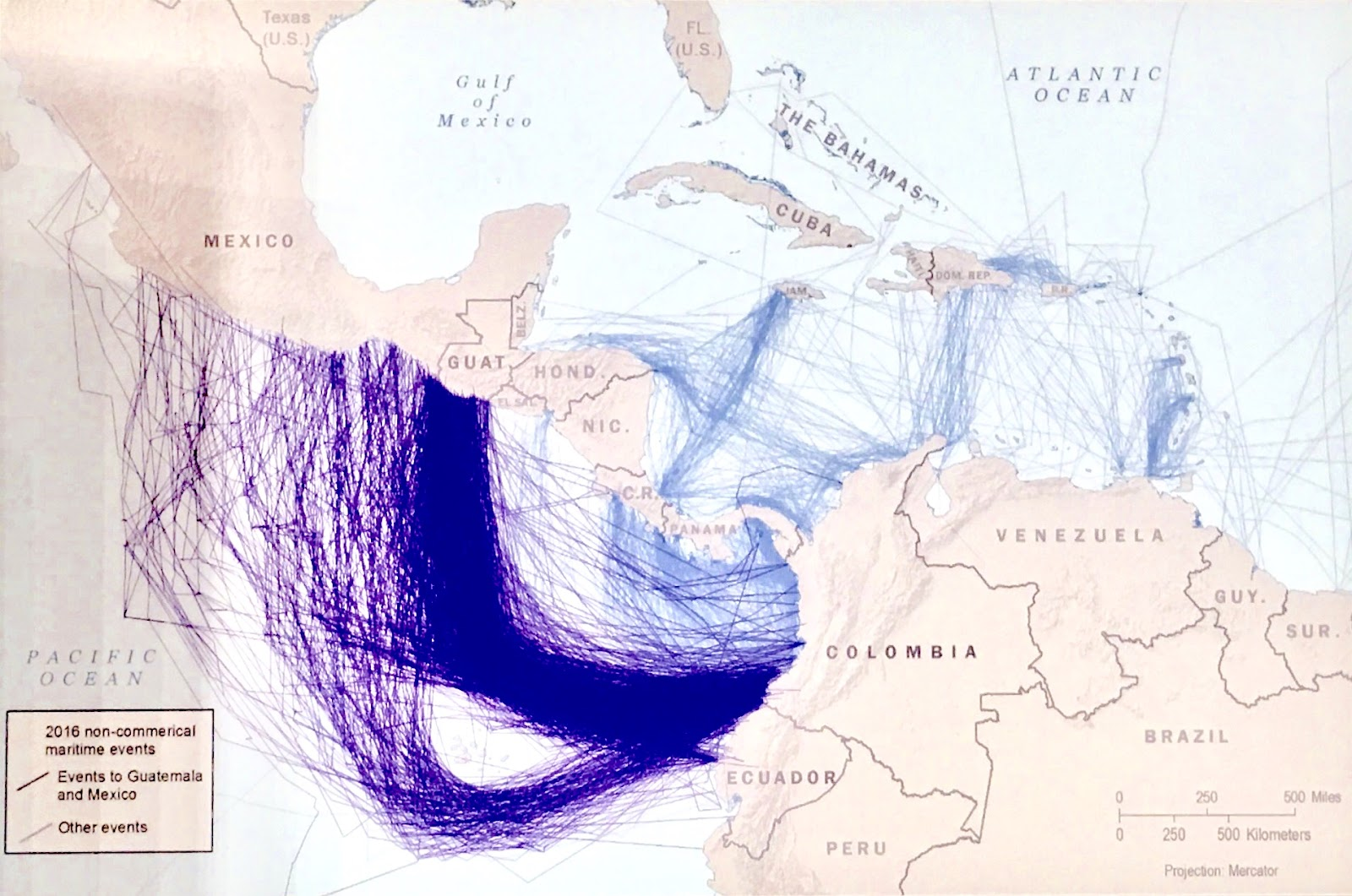 Maritime drug flows from South America in 2017. Photo: Adam Isaacson