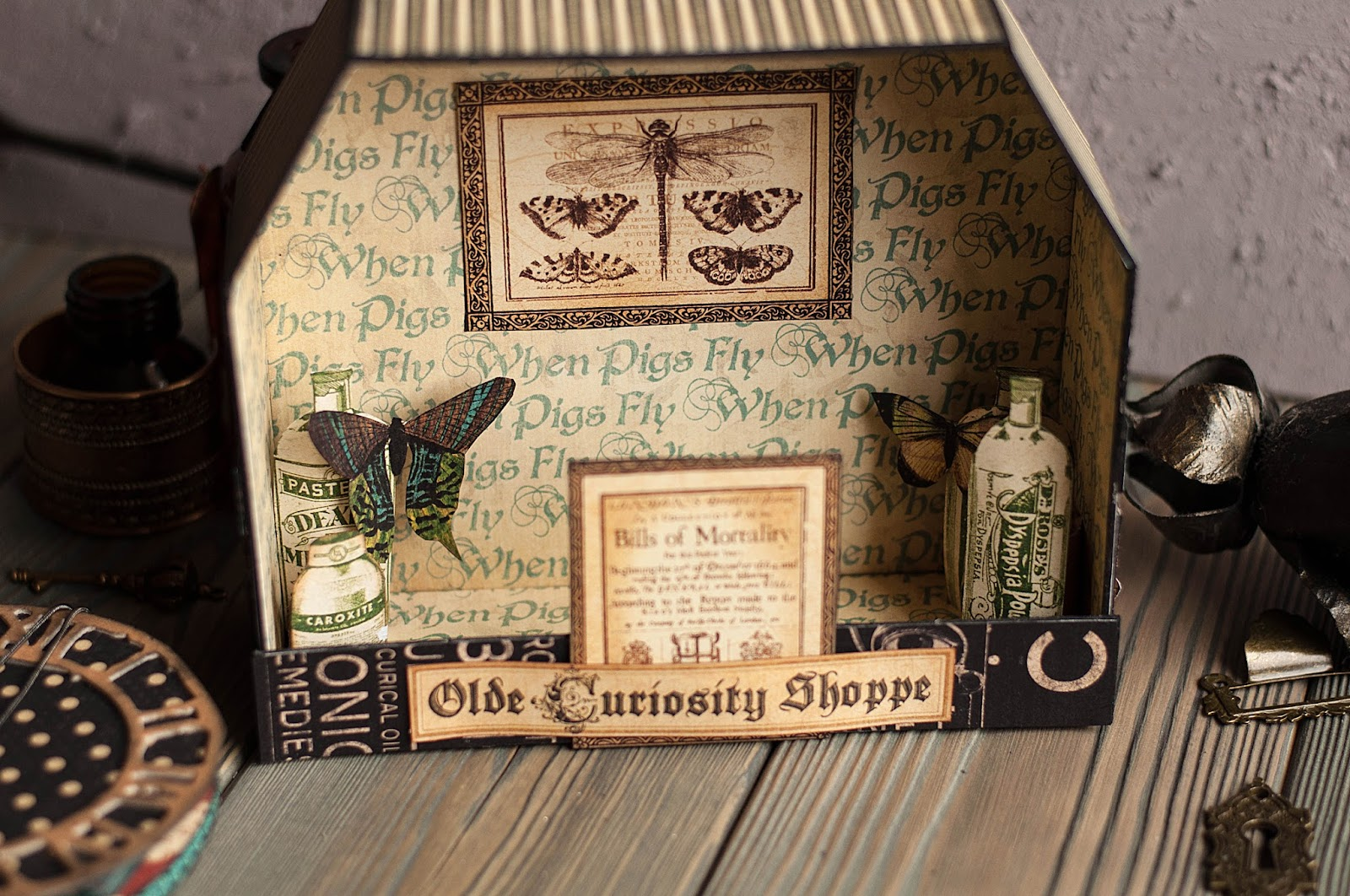 Olde Curiosity Shoppe-Album and Shoppe-tutorial by Lena Astafeva-products by Graphic 45-46.jpg