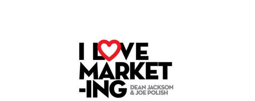 I love marketing podcast logo