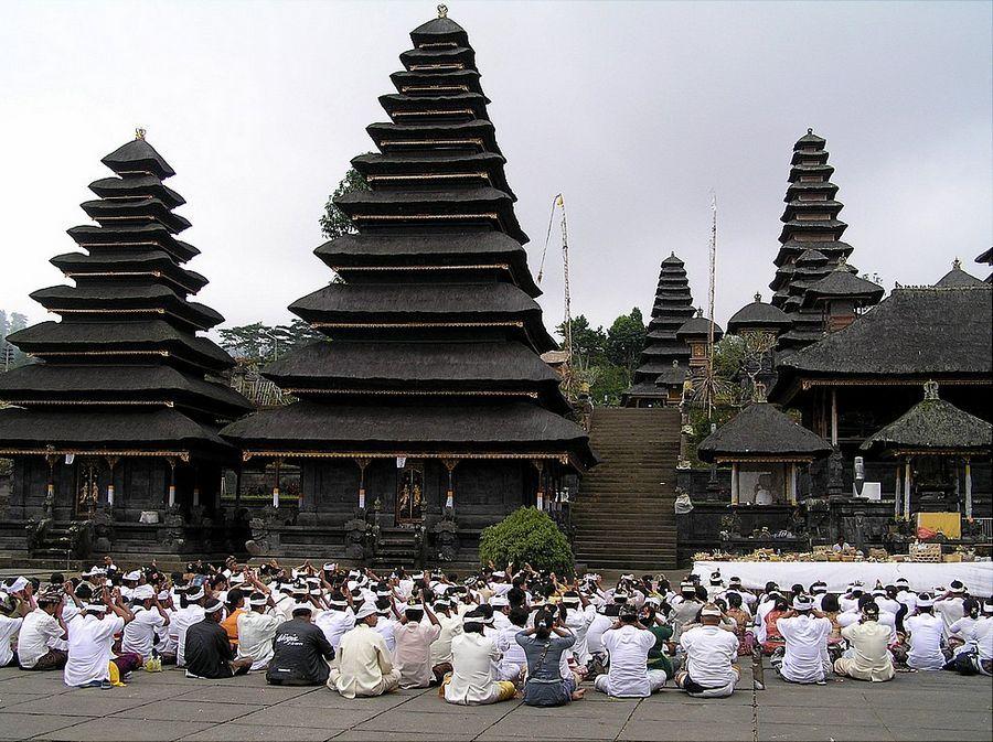 Odalan celebration in the besakih temple