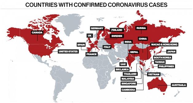 coronavirus countries