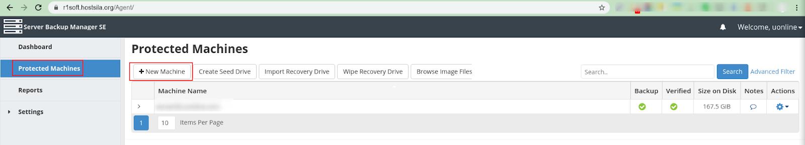 Відновлення файлів за допомогою R1Soft