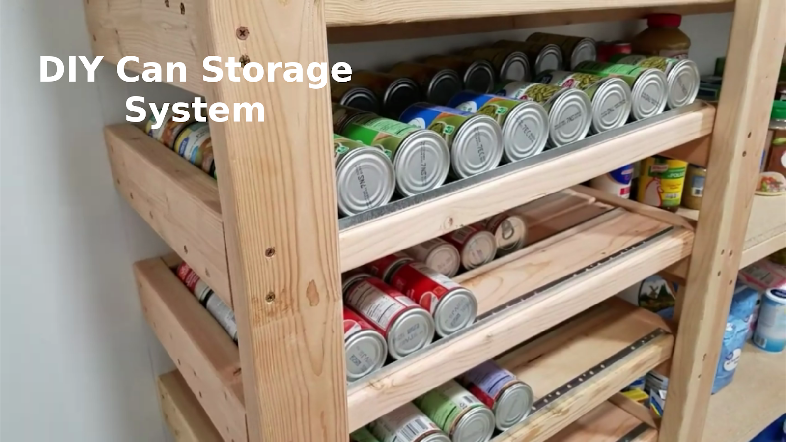 5 DIY Rotating Can Storage System Ideas for Your Kitchen Pantry