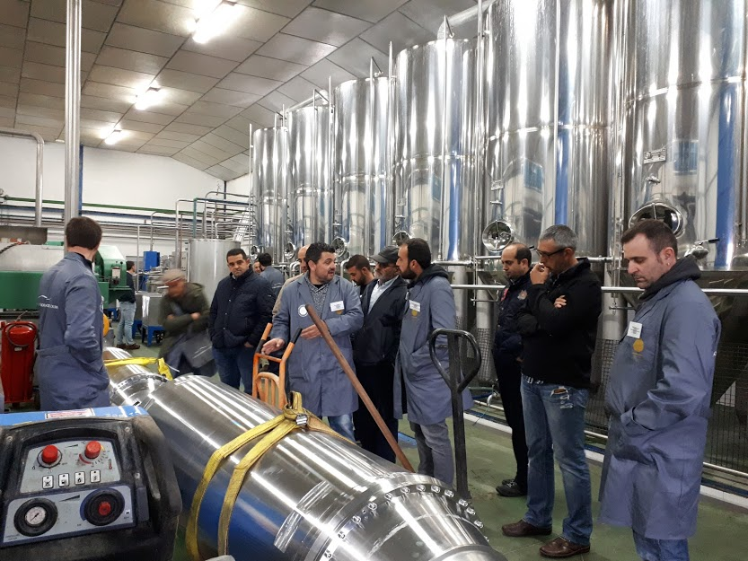 master miller ESAO course students at olive oil mill