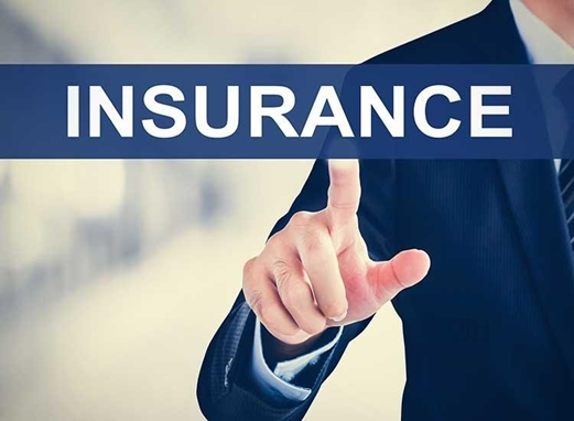 Insurance agent with text covering image