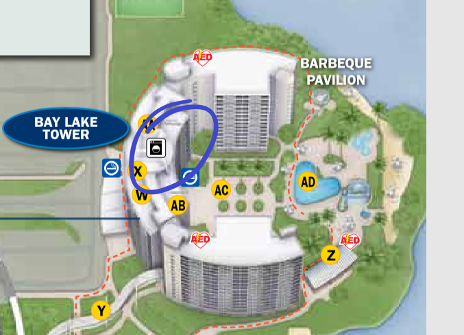 Disney's Bay Lake Laundry Locations