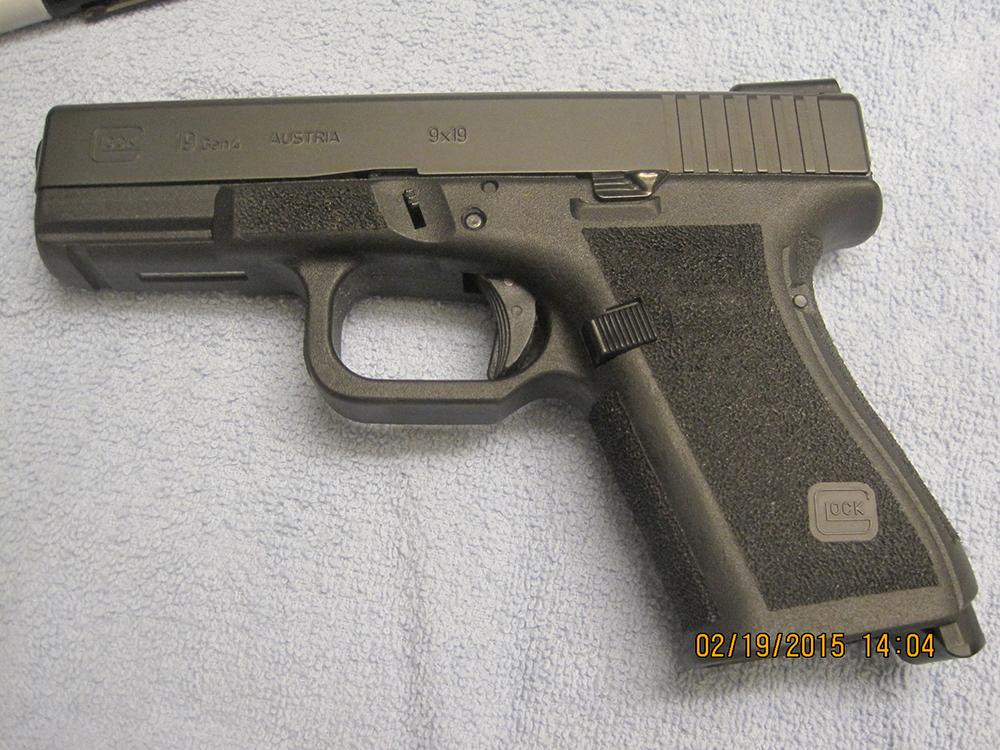 custom glock frame dehorned trigger guard