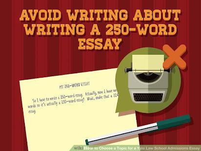 yale law school  word essay sample