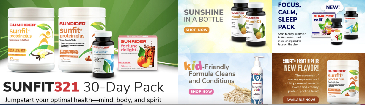 Sunrider International over 400 different products