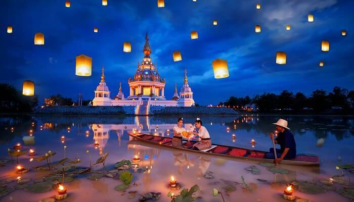 Image result for origins of Thailand lantern festival images ]