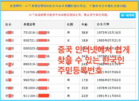 중국사이트에서검색할수있는한국신분증.png