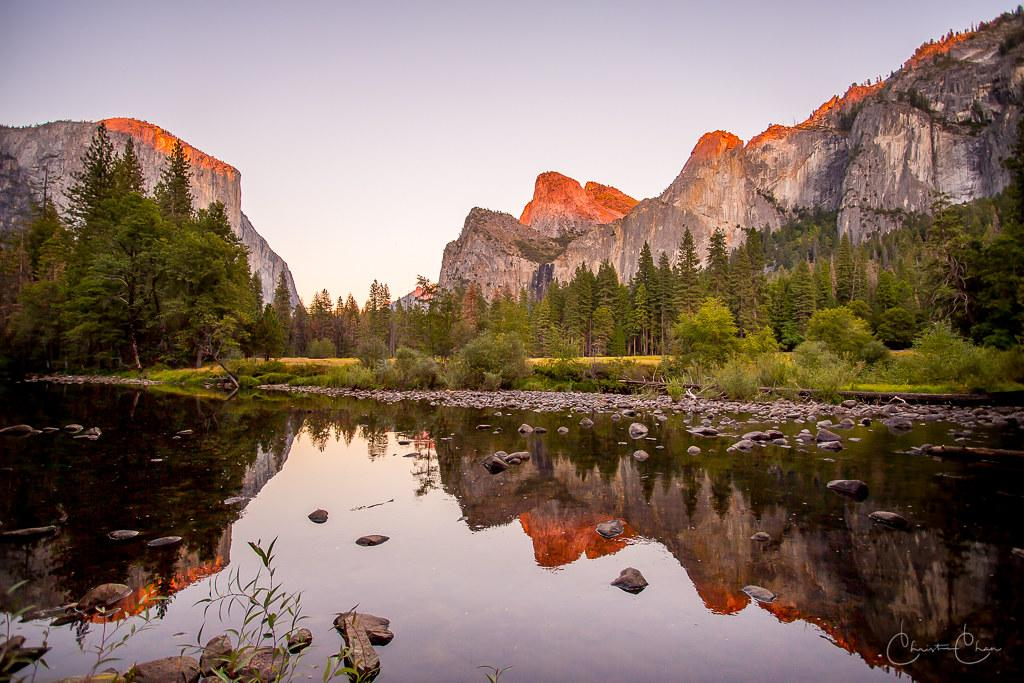 Valley View Sunset, Yosemite National Park | The features in… | Flickr